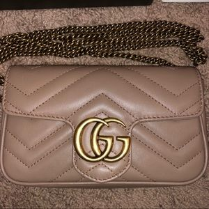Gucci super mini marmont dusty rose